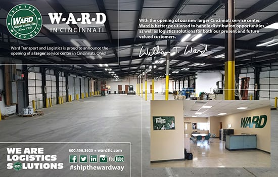 new ward cincinatti warehouse